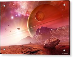 Planets In The Orion Nebula Acrylic Print by Detlev Van Ravenswaay