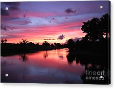 Plantation Preserve Sunset Acrylic Print