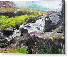 Plein Air In Snowdonia Acrylic Print by Harry Robertson