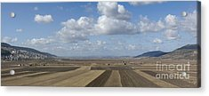 Plowed Agricultural Fields In The Beit Netofa Valley Acrylic Print by Noam Armonn