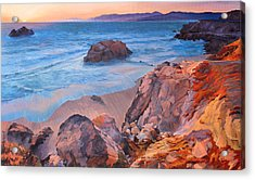 Point Lobos At San Francisco Acrylic Print