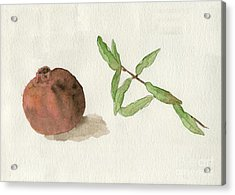 Acrylic Print featuring the painting Pomegranate  by Annemeet Hasidi- van der Leij