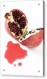 Pomegranate Acrylic Print by Veronique Leplat