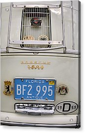 Porsche 1600 Super 1959 Rear View. Miami Acrylic Print