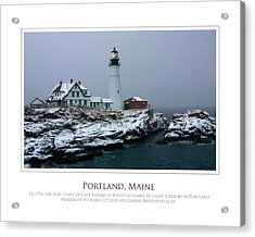 Portland Headlight Acrylic Print by Jim McDonald Photography