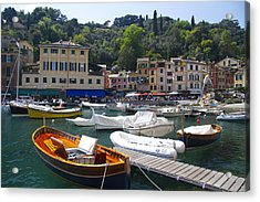 Portofino In The Italian Riviera In Liguria Italy Acrylic Print by David Smith