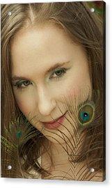 Portrait Acrylic Print by Daniel Csoka