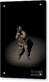 Portrait Of A U.s. Marine Acrylic Print by Terry Moore