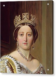 Portrait Of Queen Victoria Acrylic Print by Franz Xavier Winterhalter