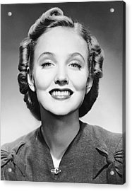 Portrait Of Smiling Woman Acrylic Print by George Marks
