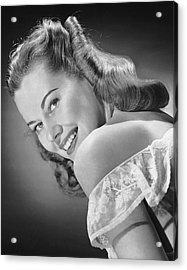 Portrait Of Woman Indoor Acrylic Print by George Marks