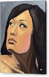 Acrylic Print featuring the painting Portrait by Stephen Panoushek
