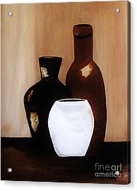 Pottery From Portugal  Acrylic Print by Marsha Heiken