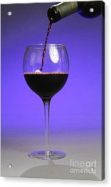 Pouring Wine Acrylic Print by Photo Researchers, Inc.