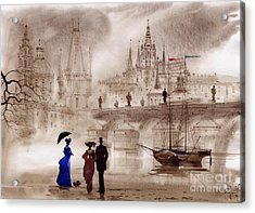 Prague II Acrylic Print by Svetlana and Sabir Gadghievs