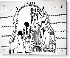 Acrylic Print featuring the drawing Presentation Of Jesus In The Temple by Gloria Ssali
