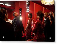 President And Michelle Obama Attend Acrylic Print by Everett