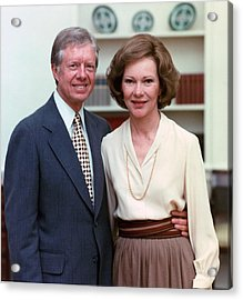 President Jimmy Carter And Rosalynn Acrylic Print by Everett