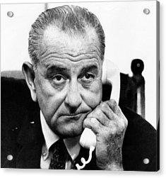 President Lyndon B. Johnson Acrylic Print by Everett