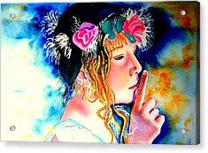 Princess Acrylic Print by Amanda Pillet