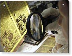 Printed Circuit Board Production Acrylic Print by Ria Novosti