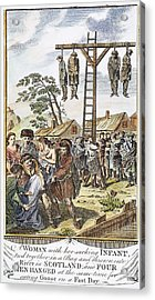 Protestant Martyrs, 1563 Acrylic Print by Granger