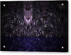 Purple Caverns Acrylic Print by Christopher Gaston