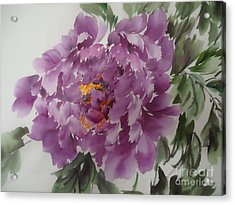 Acrylic Print featuring the painting Purple King-1 by Dongling Sun
