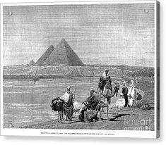 Pyramids At Giza, 1882 Acrylic Print by Granger