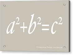 Pythagoras Maths Equation Acrylic Print by Michael Tompsett