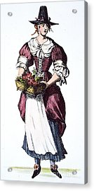 Quaker Woman 17th Century Acrylic Print by Granger