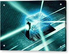 Quantum Computer Core Acrylic Print by Richard Kail