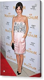 Rachel Bilson Wearing A Chanel Couture Acrylic Print