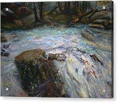 Raging River Acrylic Print by Sylva Zalmanson