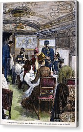Railroad: Dining Car, 1880 Acrylic Print by Granger