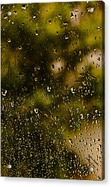 Acrylic Print featuring the photograph Rain Drops On My Window by Itzhak Richter