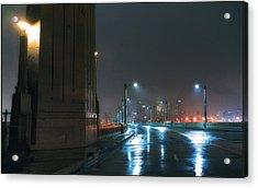 Rain On The Sixth Street Bridge Acrylic Print by Kevin  Break