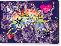 Acrylic Print featuring the digital art Rainbow Space by Kim Prowse
