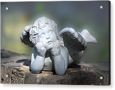 Reclining Angel Acrylic Print by Linda Phelps