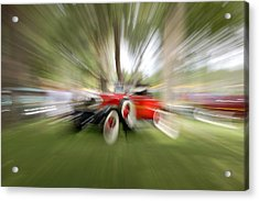 Red Antique Car Acrylic Print