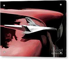 Red Chevy Jet Acrylic Print