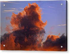 Red Clouds Acrylic Print by Garry Gay