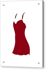 Red Dress Acrylic Print by Frank Tschakert