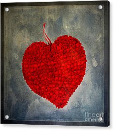 Red Heart Acrylic Print by Bernard Jaubert