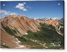 Red Mountain Acrylic Print by Marta Alfred