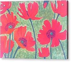 Red Poppies Acrylic Print by Berta Barocio-Sullivan