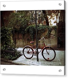 Red Rambler On Commerce Street Acrylic Print
