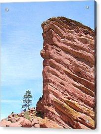 Red Rocks Acrylic Print by Arlene Carmel