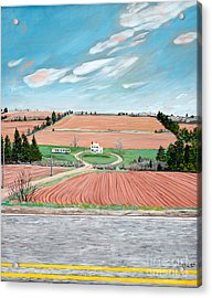 Red Soil On Prince Edward Island Acrylic Print