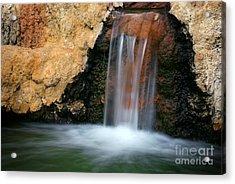 Red Waterfall Acrylic Print by Carlos Caetano